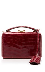 Mark Cross Grace Mini Box Bag Red
