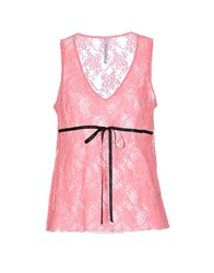 Pianurastudio Topwear Vests Women Salmon Pink
