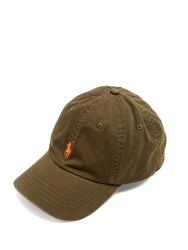 Polo Ralph Lauren Logo Embroidered Cotton Cap Khaki