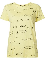 Proenza Schouler Abstract Print T Shirt Yellow And Orange