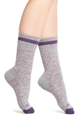Smartwool Women's Birkie Crew Socks Mountain Purple Heather