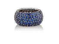 Sidney Garber Women's Blue Sapphire Flexible Domed Band No Color