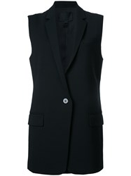 Alexander Wang One Button Waistcoat Black