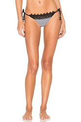 Seafolly Riviera Brazilian Tie Side Bottom Black And White