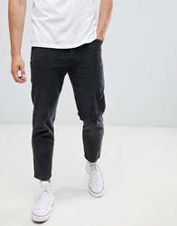 Celio Straight Fit Cord Trousers In Grey