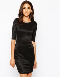Ax Paris Bodycon Dress In Shimmer Fabric Black