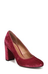 Sarto By Franco Sarto Women's Aziza Block Heel Pump Ruby Velvet