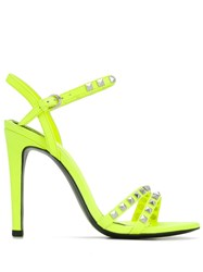 Ash Studded High Heel Sandals Yellow