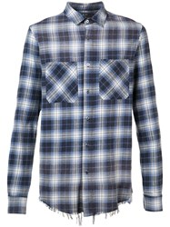 Amiri Plaid Shirt Blue