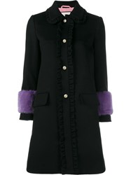 Gucci Mink Fur Cuff Coat Black