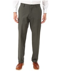 Dockers Signature Khaki D2 Straight Fit Flat Front Olive Grove Stretch Men's Casual Pants Gray