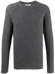 Closed Ribbed Knitted Jumper 60