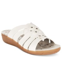 Bare Traps Jaydin Flat Sandals Women's Shoes White