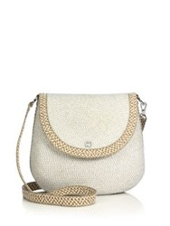 Eric Javits Squishee Demi Woven Crossbody Pouch Ice Bark