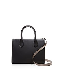Street Level Mini Satchel Black Silver Silver