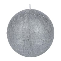 Amara Rustic Metal Spherical Candle Silver