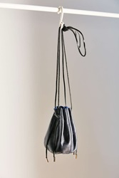 Ecote Waxed Leather Mini Bucket Bag Blue
