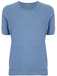 N.Peal Round Neck T Shirt Blue