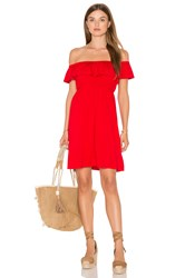 Vava By Joy Han Paloma Open Shoulder Dress Red