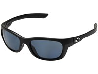 Costa Trevally Matte Black Frame Gray 580P Fashion Sunglasses Blue