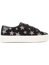 Saint Laurent Signature Court Classic Star Sneakers Black