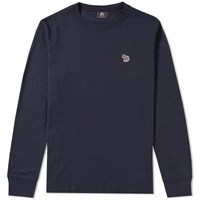 Paul Smith Long Sleeve Zebra Logo Tee Blue