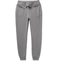 A.P.C. Loopback Cotton Blend Jersey Sweatpants Gray