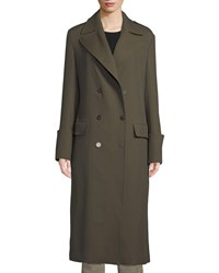 A.L.C. Lisbon Double Breasted Wool Blend Coat Green