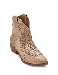 Matisse Western Leather Ankle Boots Old Gold