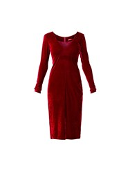 Maiocci Collection Long Sleeve V Neck Dress Wine