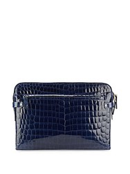 Valentino Crocodile Embossed Leather Wallet Oxford