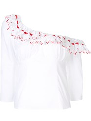 Vivetta Hands And Lips Trimmed Blouse White