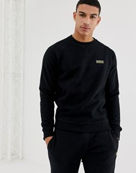 Barbour International Essential Logo Crew Neck Sweat In Black