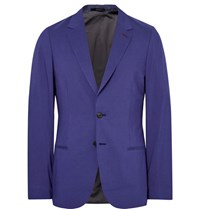 Paul Smith Blue Slim Fit Modal Cotton And Cashmere Blend Blazer Blue