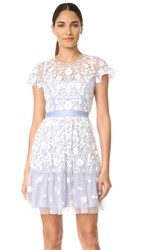 Needle And Thread Tulle Meadow Dress Dust Blue