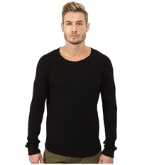 Lucky Brand Long Sleeve Thermal Jet Black Men's Clothing