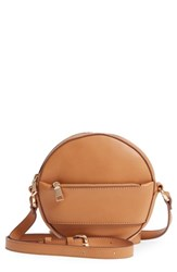 Bp. Faux Leather Canteen Crossbody Bag Beige Camel