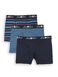 Lucky Brand Cotton Boxer Briefs 3 Pack
