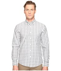 Jack Spade Heathered Gingham Button Down Grey Men's Clothing Gray
