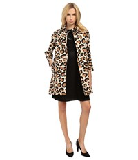 Marc By Marc Jacobs Leopard Cotton Printed Coat Sand Box Multi Women's Coat Animal Print