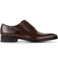 Stemar Chisel Leather Oxford Shoes Brown