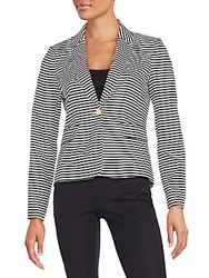 Calvin Klein Striped Blazer Black White