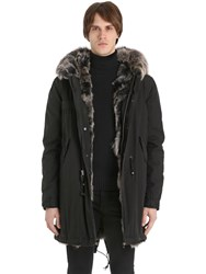 Mrandmrs Italy Coyote Fur Lined Cotton Canvas Parka