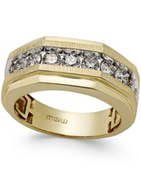 Macy's Men's Diamond Octagonal Ring 1 3 4 Ct. T.W. In 10K Gold Yellow Gold