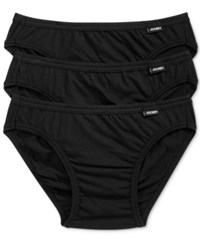 Jockey Men's Underwear Elance Bikini 3 Pack Black