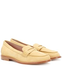 Tod's Gommino Suede Loafers Yellow