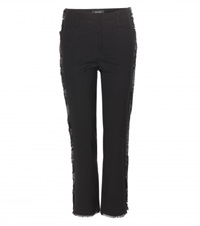 Isabel Marant Isiah Embellished Linen And Cotton Blend Trousers Black