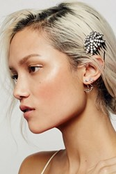 Free People Womens Jeweled Tort Hair Pick
