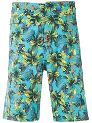 Amir Slama Printed Shorts Blue