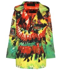 Valentino Embroidered Printed Cotton Jacket Multicoloured